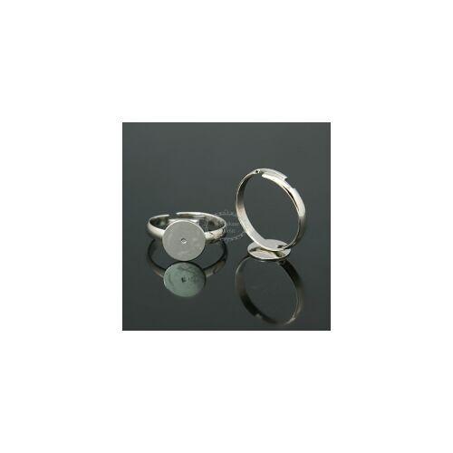 Antikolt ezüst színű ragasztható gyűrűalap (8mm)