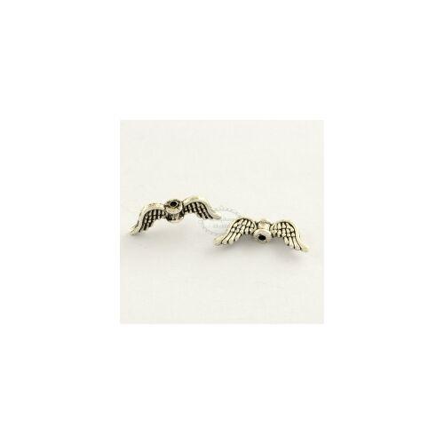 Antikolt ezüst színű angyalszárny köztes (8x20mm)