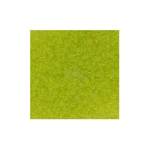 Toho kásagyöngy áttetsző matt lime zöld15/0 (4F)
