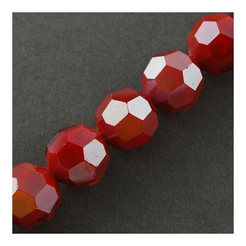 10db Csiszolt sötét piros üveggyöngy (8x7mm)