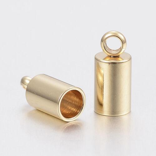 Nemesacél arany színű végzáró (10x5mm)