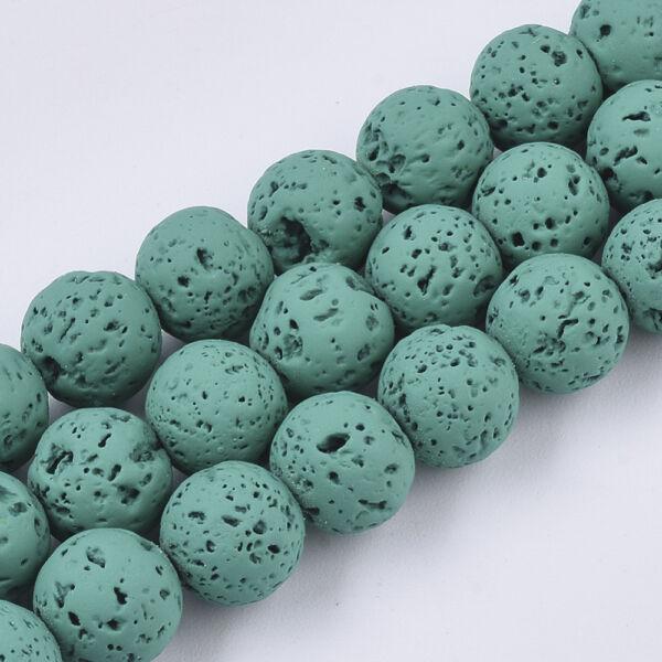 Zöld lávakő ásványgyöngy (8mm)/10db
