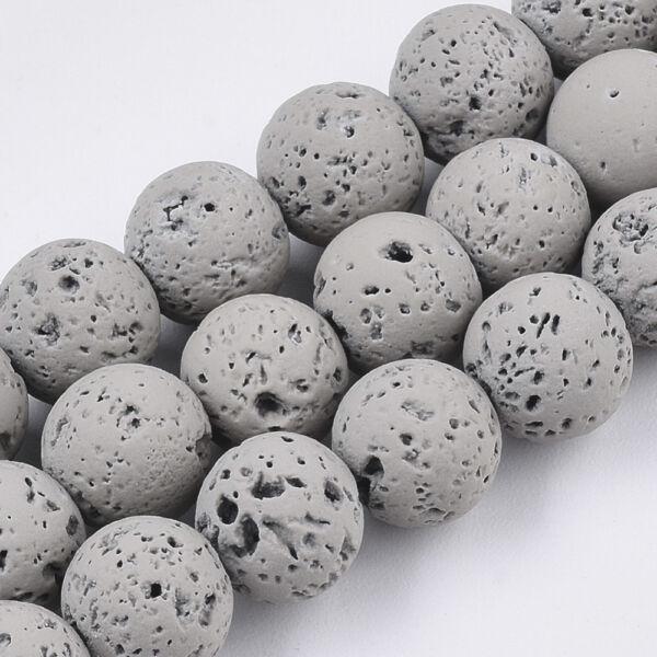 Szürke lávakő ásványgyöngy (8mm)/10db