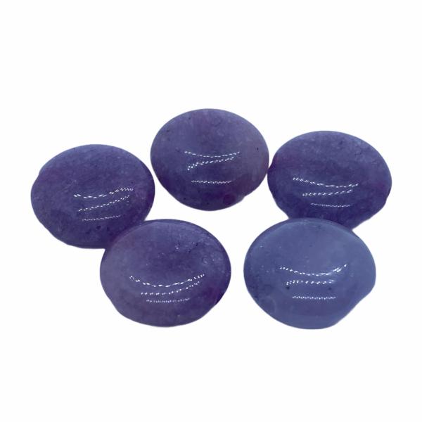 Viola színű jade lapos ásvány medál (15mm)