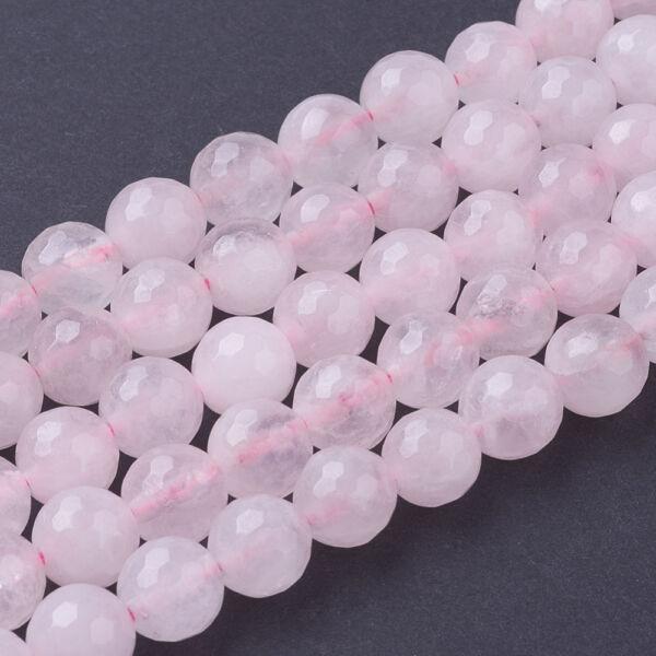 Rózsakvarc ásványgyöngy (6mm)/10db
