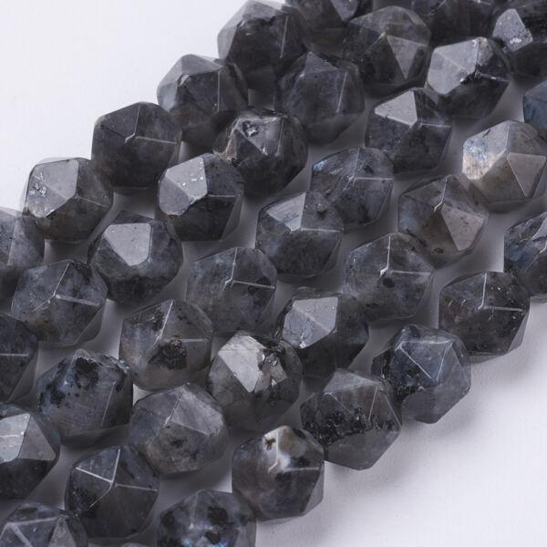 Labradorit csiszolt ásványgyöngy/5db