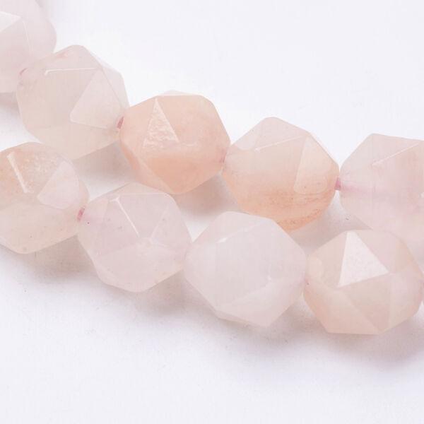 Pink Aventurin csiszolt ásványgyöngy/5db