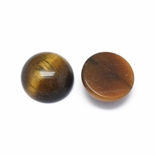 Tigrisszem ásványkabochon (10mm)