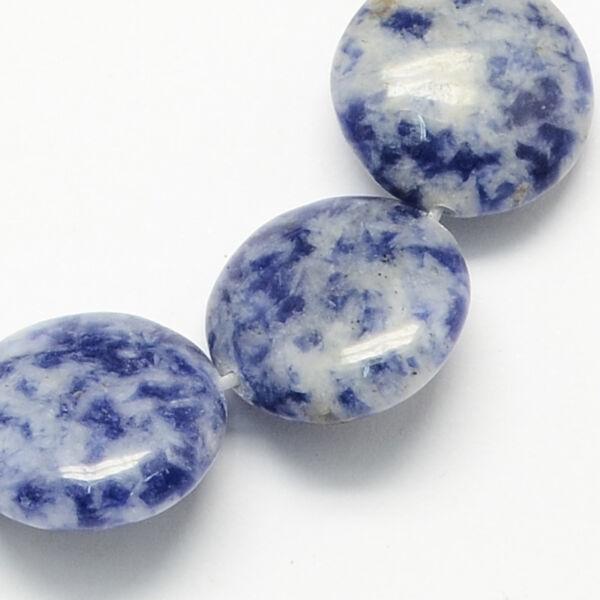 Blue spot lapos ásvány medál (14mm)