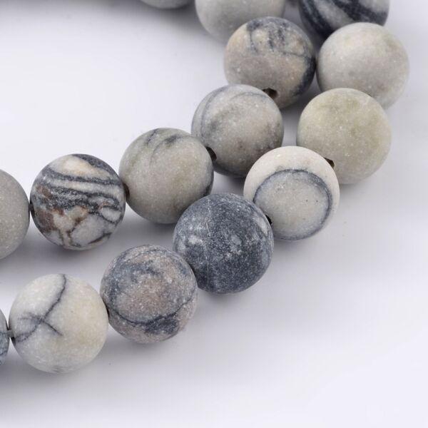 Matt selyemkő ásványgyöngy (8mm)/10db