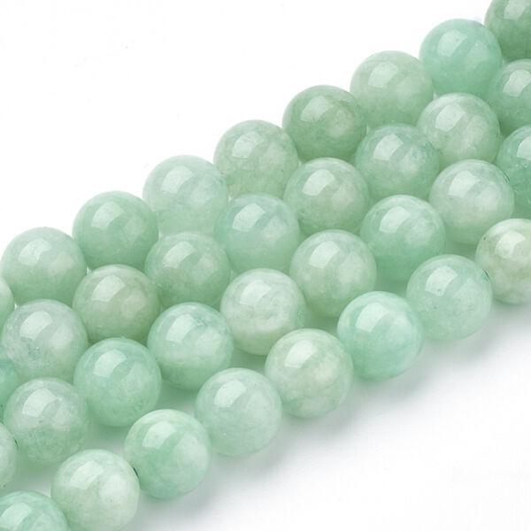 Myanmar Jade/Burmai Jade ásványgyöngy (6mm)/10db