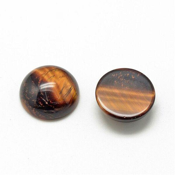 Tigrisszem ásványkabochon (8mm)