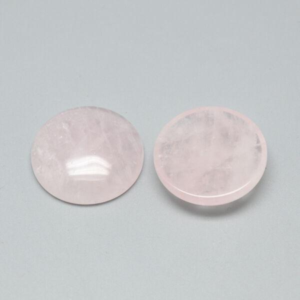 Rózsakvarc ásványkabochon (25mm)