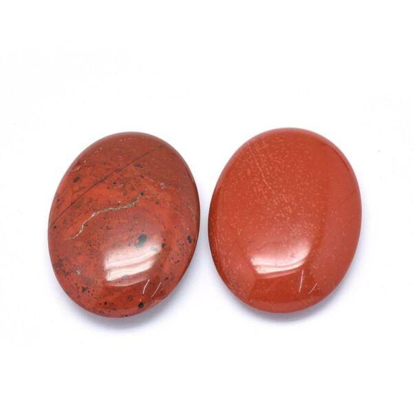 Vörös jáspis furatlan ásványmedál (44x33x10mm)