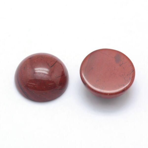 Vörös jáspis ásványkabochon (12mm)