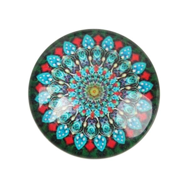 Mandala mintás üveglencse (20mm)