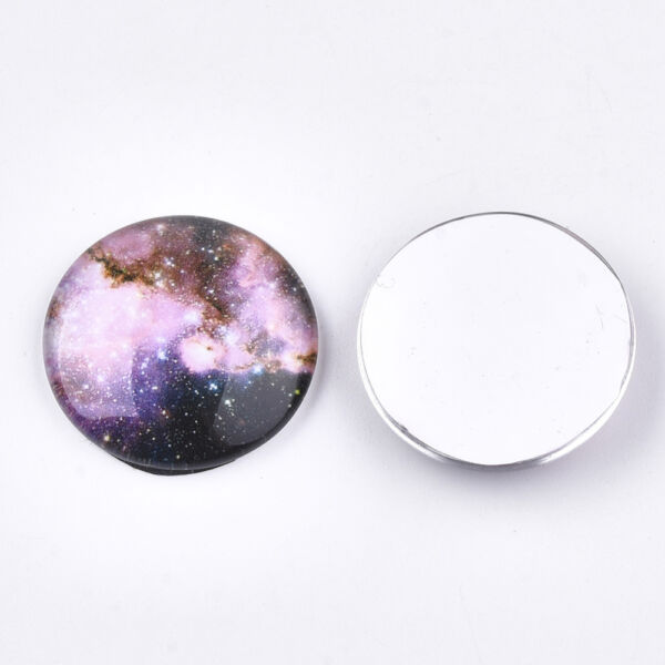 Galaxis mintás üveglencse (25mm)