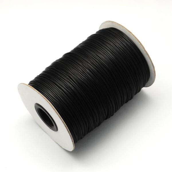 Fekete viaszolt szál (0,3mm)