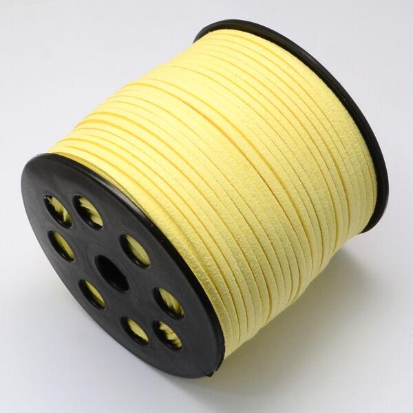 Halvány sárga hasított bőrszál (3mm)