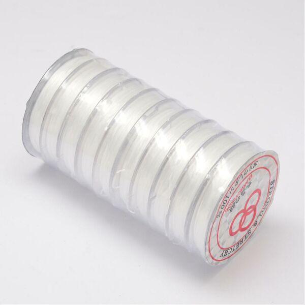 Fehér elasztikus damil/0,8mm (10m)