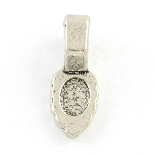 Antikolt ezüst színű medáltartó (kisebb)