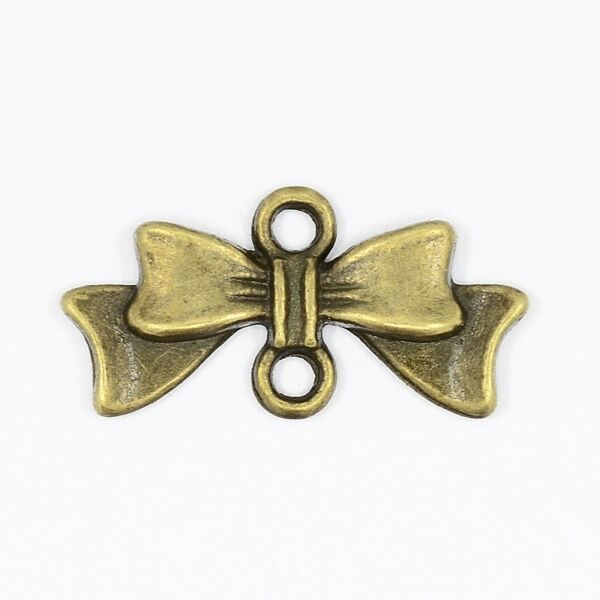 Antikolt bronz színű masni kapcsolóelem