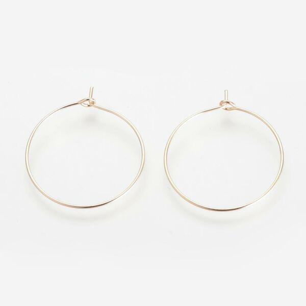 1 pár világos arany színű kör nyitható fülbevalóalap
