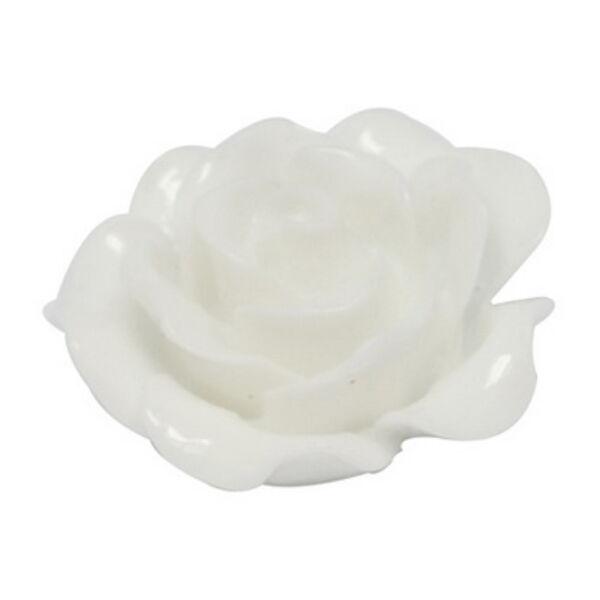 Fehér színű műgyanta virág (20mm)