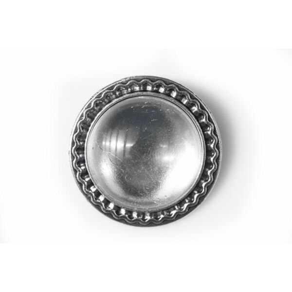 Antikolt ezüst színű kitűzőalap (25mm) hozzátartozó üveglencsével