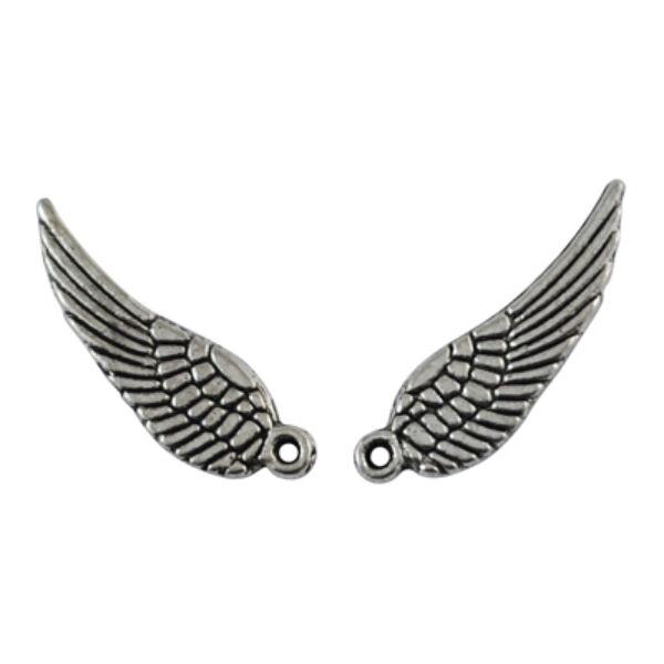Antikolt ezüst színű szárny fityegő