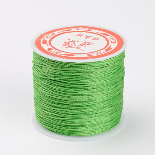 Világos zöld színű viaszolt szál (0,5mm)