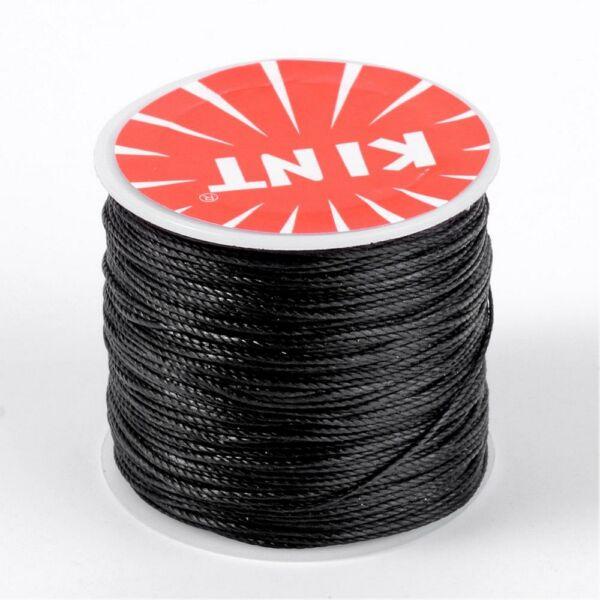 Fekete viaszolt szál (0,5mm)