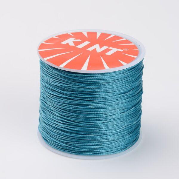 Cián kék színű viaszolt szál (0,5mm)