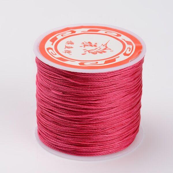 Mély pink színű viaszolt szál (0,5mm)