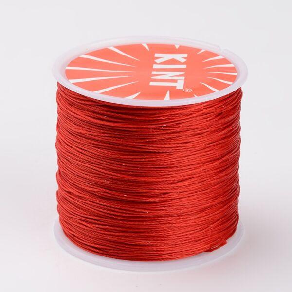 Piros viaszolt szál (0,5mm)