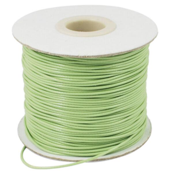Világos zöld viaszolt szál (1mm)
