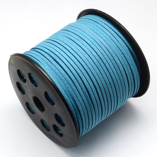 Világos kék hasított bőrszál (3mm)