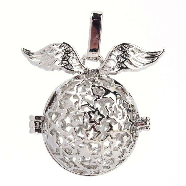 Antikolt ezüst színű angyalhívó (6)