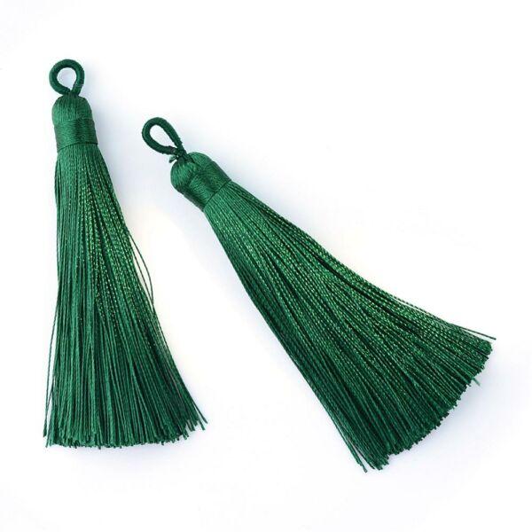 Sötét zöld színű zsinórbojt (85mm)