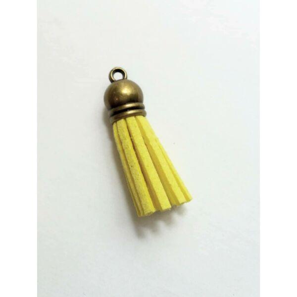 Sárga színű bőrbojt (38mm)