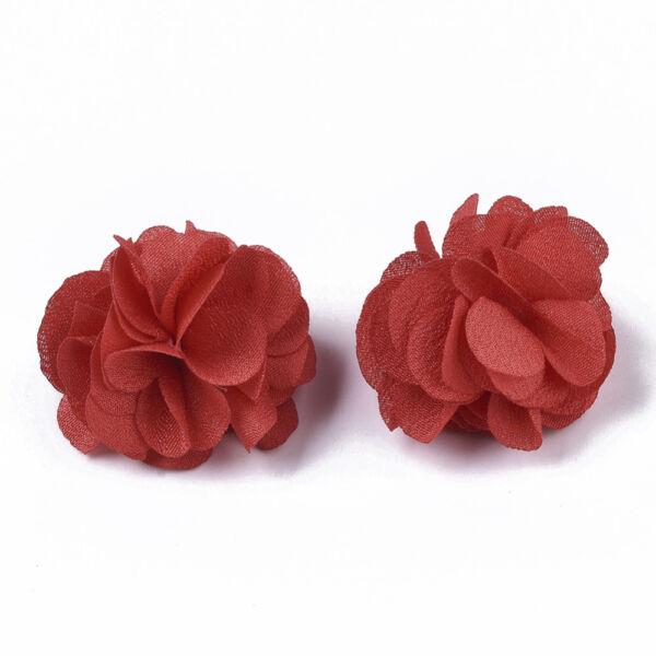 Vörös virág alakú pompon (34mm)