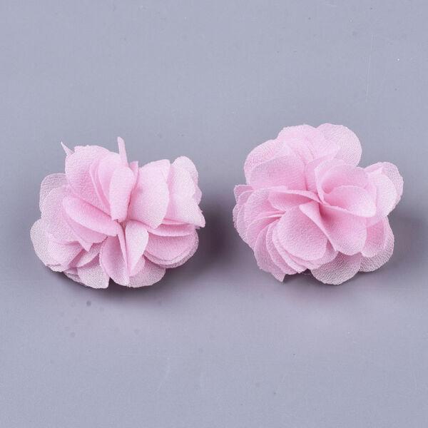 Világos rózsaszín virág alakú pompon (34mm)