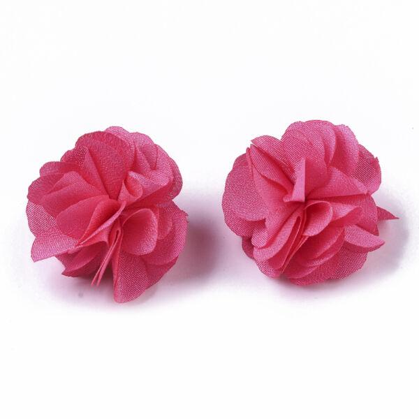 Pink virág alakú pompon (34mm)