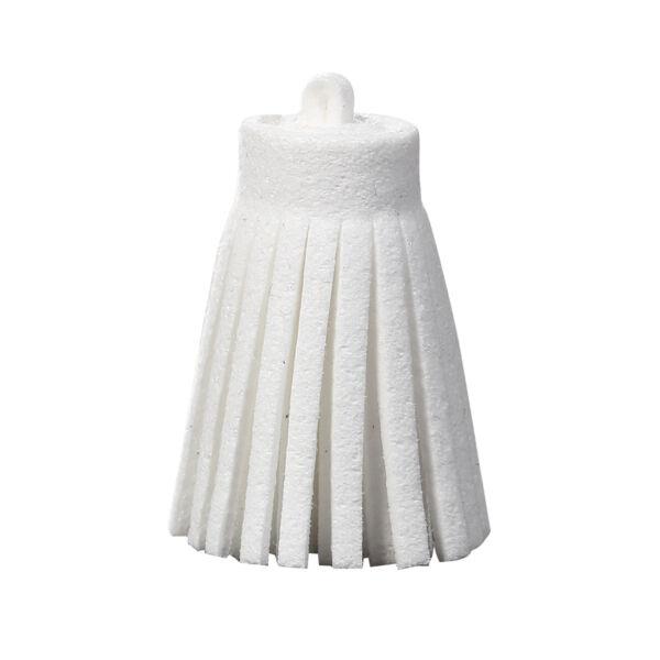 Fehér színű bőrbojt (35mm)