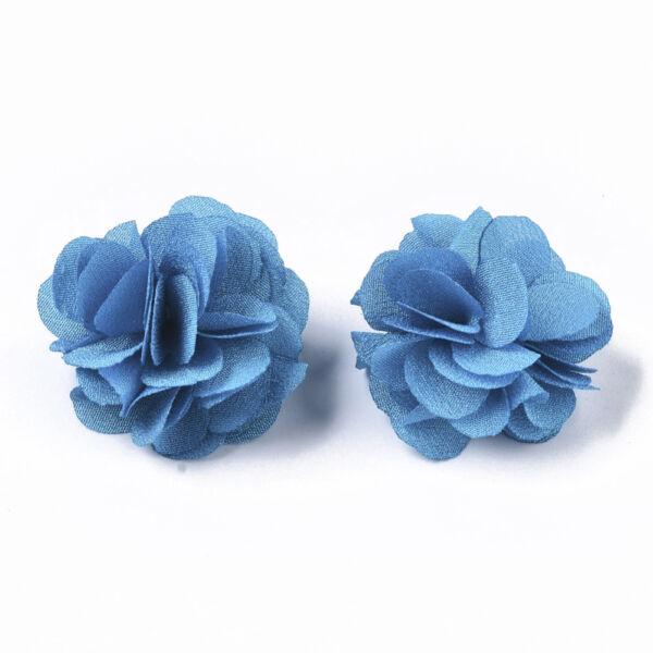 Kék virág alakú pompon (34mm)