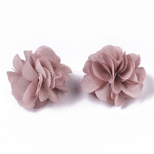Rózsaszín virág alakú pompon (34mm)