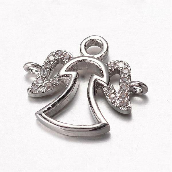 Ezüst színű angyal cirkónia kapcsolóelem
