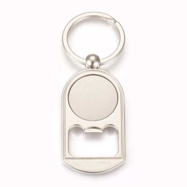 Antikolt ezüst színű sörbontó kulcstartóval (25mm)
