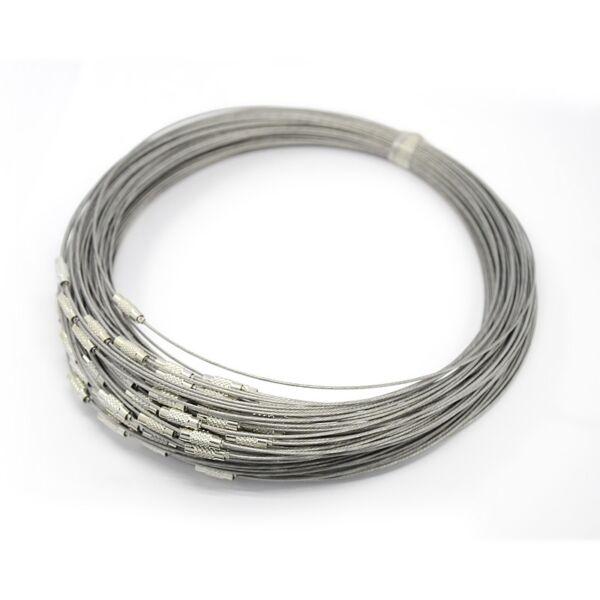 Ezüst rozsdamentes acél drót nyaklánc