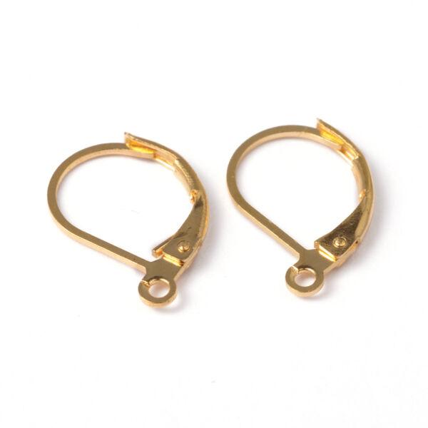 Arany színű nyitható kapcsos fülbevalóalap